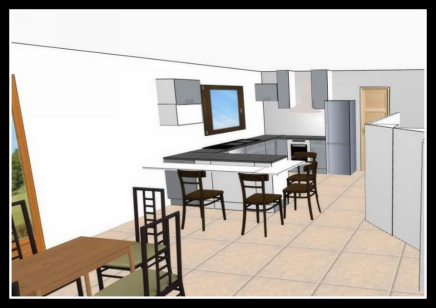 Plans cuisine construire avec car et ver for Plan 3d cuisine